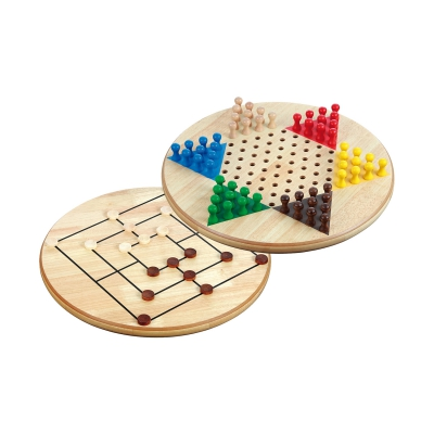 Chinese Checkers-Nine Men's Morris combination - birch