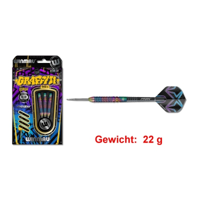 3 x Steeldart - Winmau - Graffiti -  85 Tungsten - 22g