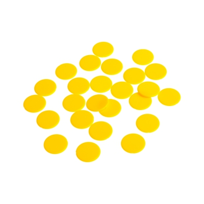 playing chips - gaming piece - 22 mm - yellow - mat
