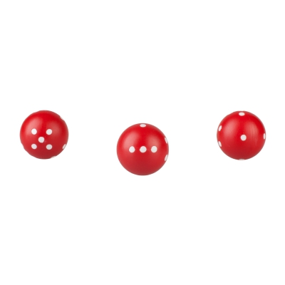 dice round - red