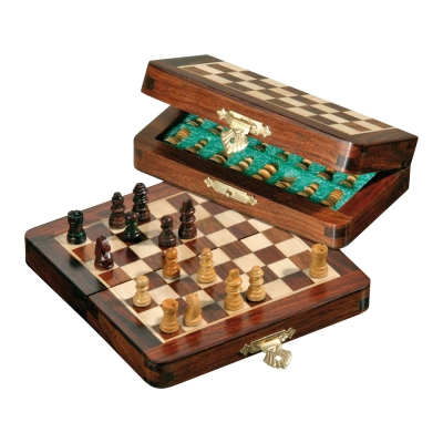 Chessgame - travel game - octagon - small - 13 cm