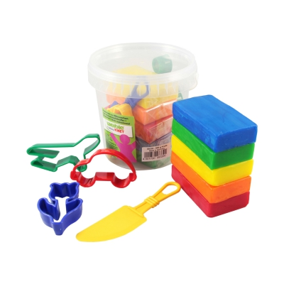 Kneading - Fantasia - 500 g and Accessories in the bucket - large