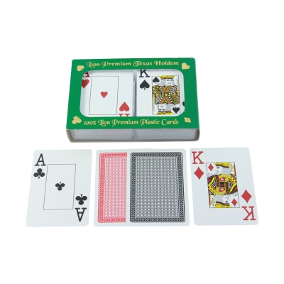 Playing Cards Premium for Poker - Bridge - Canasta - Double Pack - 2x55 cards - plastic