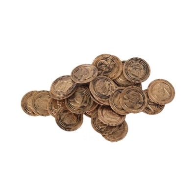 Pirate Money - Gold Coins - Game money - 33 mm - bronze-gold - 30 pieces