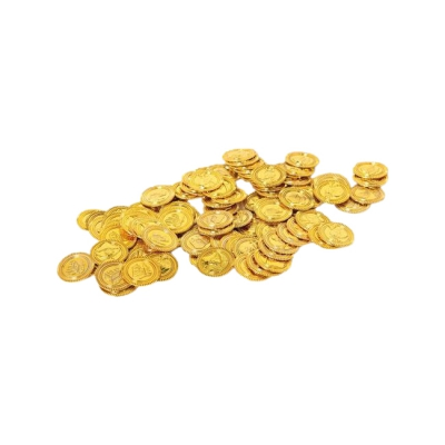 Pirate Money - Gold Coins - Game money - 33 mm - gold - 100 pieces