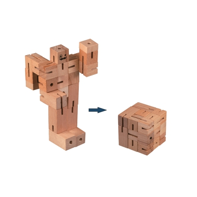 Jigsawman - Level  3 - 22 puzzle which are connected with a cord.