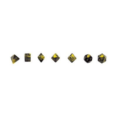 multi-sided dice - oblivion - yellow - 7er polybag