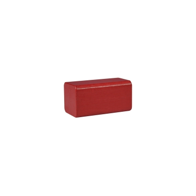building block - rectangle - 50x26x26 mm - red