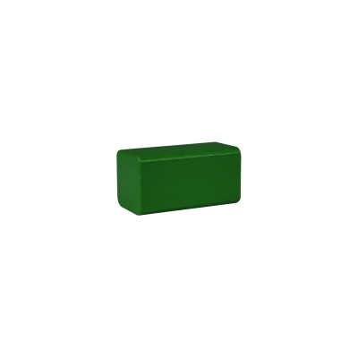building block - rectangle - 50x26x26 mm - green