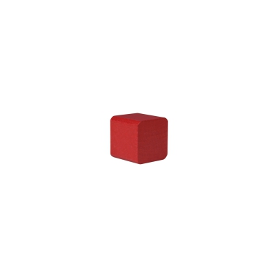 building block - cube - 25x26x26 mm - red