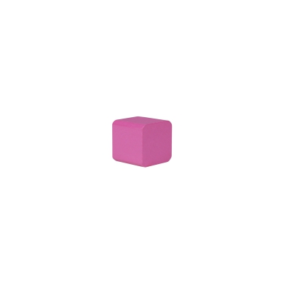 building block - cube - 25x26x26 mm - pink