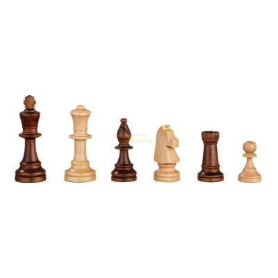 Chess figures - Heinrich VIII - wooden - Staunton - king size 90 mm