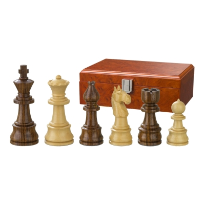 Chess figures - Theoderich - wooden - Burma Style - king size 95 mm