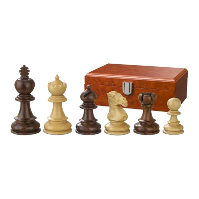 Chess figures - Avitus - wooden - Edel-Staunton - king size 90 mm