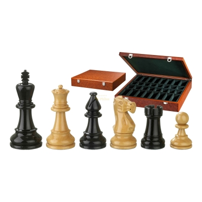 Chess figures - Nero - wooden - Edel-Staunton - king size 95 mm