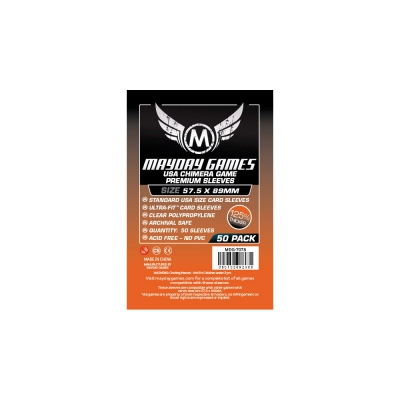 Premium USA Chimera Game Sleeves (50) - 57.5 x 89mm (orange) -7078