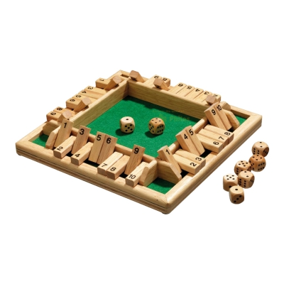 Shut The Box - 10er - für 1-4 Personen - Hevea-Holz
