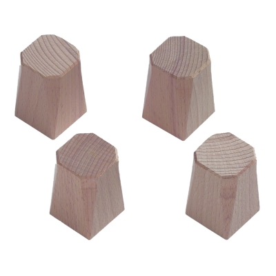 Carrom small Table-Legs - beech - 50 x 35 mm - 4 pieces