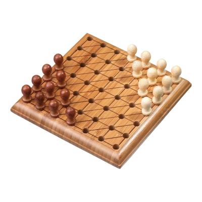 Chinese Checkers - bamboo - 120 x 120 x 30 mm