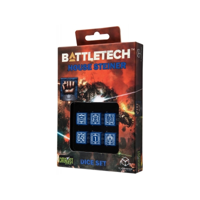 Battletech House Steiner D6 Dice set - 6