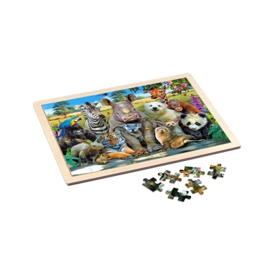 Wooden frame puzzle - Exotic Wildlife
