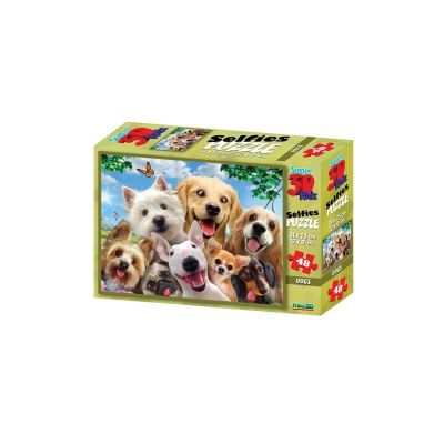 3D Puzzle Kids - 48 Pieces - Dog Selfie