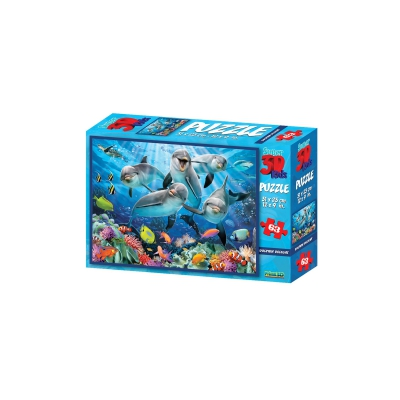3D Puzzle Kids - 63 pieces - Dolphin Delight