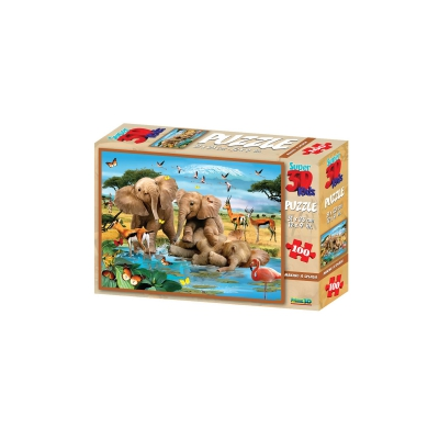 3D Puzzle Kids - 100 Pieces - Making a Splash