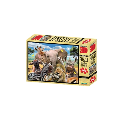 3D Puzzle - 500 Teile - Africa Selfie - Afrika - Tiere