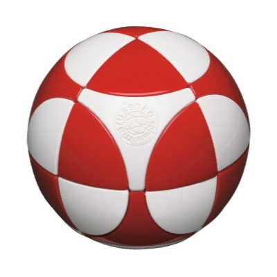 Sphere red & white, level 1