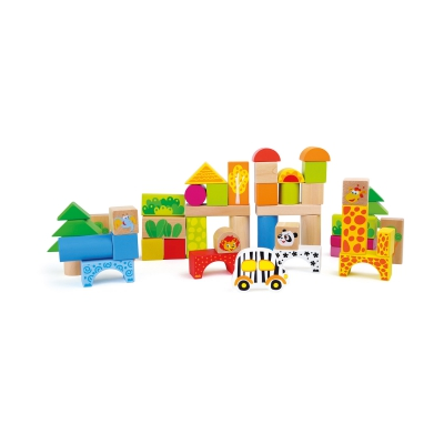 Wooden Building Blocks - Zoo