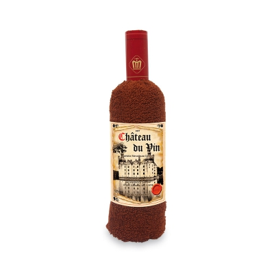Towel wine bottle