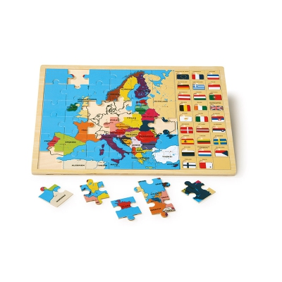 Frame puzzle - Europe with flags