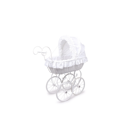 Small Foot 8769 Puppenwagen Caroline in weiß und creme weiß 1 Stück