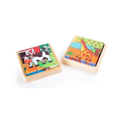 Cube puzzle farm and zoo