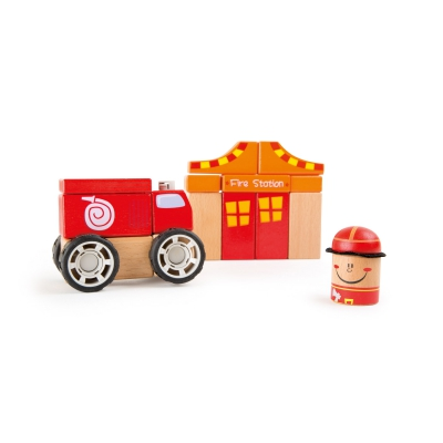 Fire brigade wooden construction set