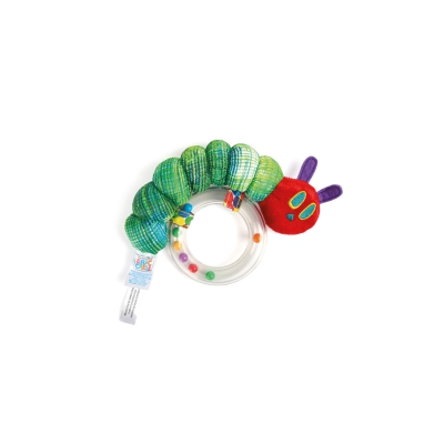 The Very Hungry Caterpillar grasping toy and rattle