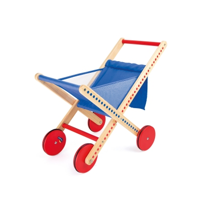 Polka-dot folding shopping trolley