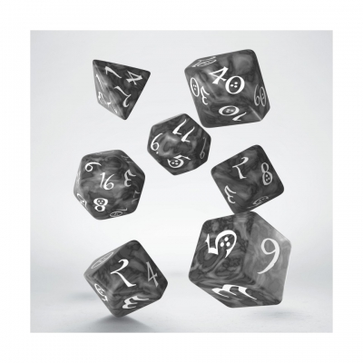 Q-WORKSHOP CLASSIC RPG DICE SMOKYWHITE Spiele