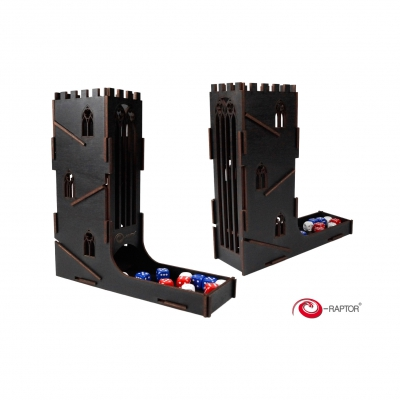 Dice Towers - Dice Tower - Castle (Black)