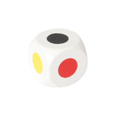 Colored dice 25 mm - white - 6 colors