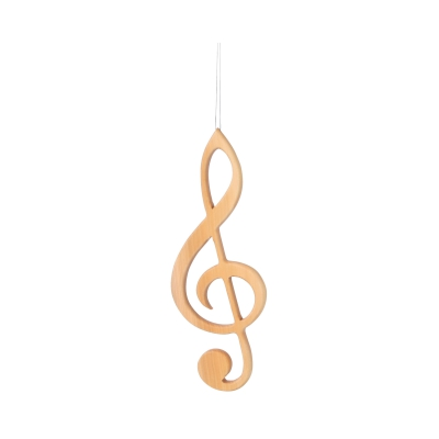 wooden hanger violin clef with crystal