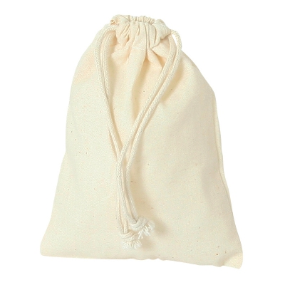 Cotton bag with cord -  ca. 220 x 180 mm - long - cotton