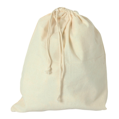 Cotton bag with cord -  ca. 300 x 250 mm - long - cotton