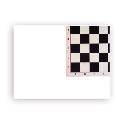 Maple chessboard printed - with numbers and letters - width 52cm - field size 58mm