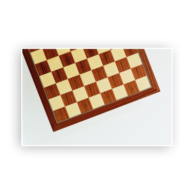 Chessboard - walnut and maple - width 52cm - field size 55mm