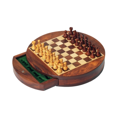 Magnetic chess - Rosewood - diameter 23 cm - King size 33 mm