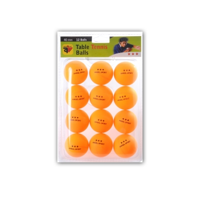 Table Tennis Balls - orange 3-Stern - 12 pieces