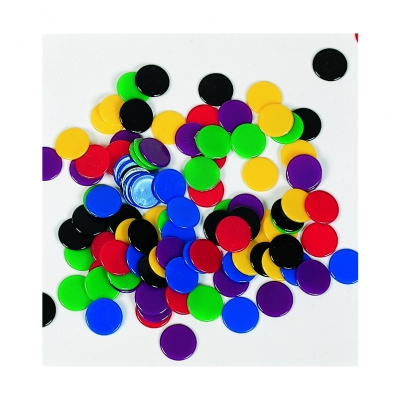roulette chips - 100 pieces - mix colors - 15 mm
