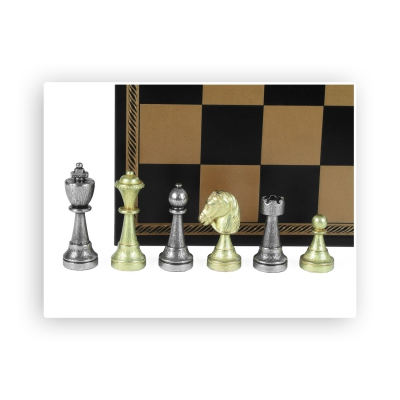 Chess figures - metal - Staunton - King size 72mm